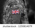 flag of united kingdom on... | Shutterstock . vector #1250814079