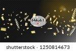 modern realistic gold tinsel... | Shutterstock .eps vector #1250814673