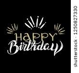 happy birthday doodle template... | Shutterstock .eps vector #1250827330