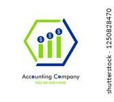 accounting company logo   Shutterstock .eps vector #1250828470