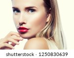 beautiful pretty model girl... | Shutterstock . vector #1250830639