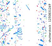 confetti. colorful confetti on... | Shutterstock .eps vector #1250831269