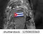 flag of cuba on soldiers arm.... | Shutterstock . vector #1250833363