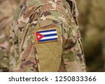 flag of cuba on soldiers arm.... | Shutterstock . vector #1250833366