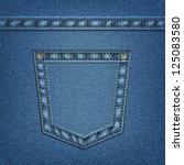 jeans pocket in vector eps 10.... | Shutterstock .eps vector #125083580