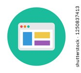 landing page flat icon. you can ...