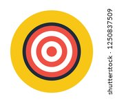 target audience flat icon. you... | Shutterstock .eps vector #1250837509
