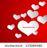 design template   eps10 heart... | Shutterstock .eps vector #125084480