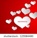 design template   eps10 heart... | Shutterstock .eps vector #125084480