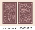 christmas and new year greeting ... | Shutterstock .eps vector #1250851723