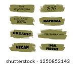 organic  100  bio  eco  natural ... | Shutterstock .eps vector #1250852143