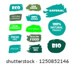 organic  bio  eco  natural... | Shutterstock .eps vector #1250852146