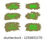organic  bio  eco  natural... | Shutterstock .eps vector #1250852170