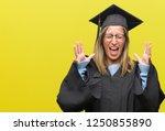 young beautiful woman wearing... | Shutterstock . vector #1250855890