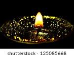 tea light with glitter | Shutterstock . vector #125085668