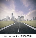 concept of road to success | Shutterstock . vector #125085746