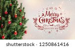 christmas tree with red... | Shutterstock . vector #1250861416