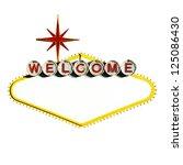 blank welcome to las vegas neon ... | Shutterstock . vector #125086430