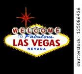 welcome to las vegas neon sign | Shutterstock . vector #125086436
