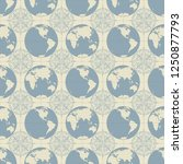 vector seamless pattern on the... | Shutterstock .eps vector #1250877793