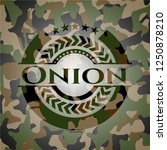 onion on camouflaged pattern