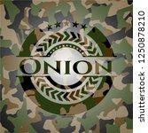 onion on camouflaged pattern