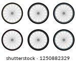 bicycle wheels. vector isolated. | Shutterstock .eps vector #1250882329
