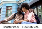 smiling couple nuzzling  having ...   Shutterstock . vector #1250882926