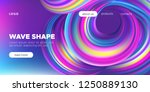 wave banner  colorful fluid... | Shutterstock .eps vector #1250889130
