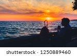 amazing golden summer sunset in ...   Shutterstock . vector #1250889460