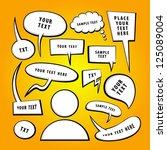 vector doodle speech bubbles. | Shutterstock .eps vector #125089004