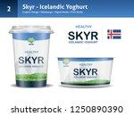 skyr icelandic yoghurt vector   ... | Shutterstock .eps vector #1250890390