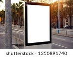 mockup of a blank empty white... | Shutterstock . vector #1250891740