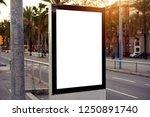 mockup of a blank empty white... | Shutterstock . vector #1250891740