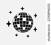 disco ball icon. disco sphere... | Shutterstock .eps vector #1250896033