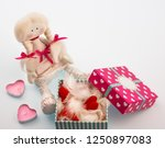 gift box with hearts and... | Shutterstock . vector #1250897083