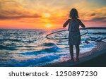 girl is watching amazing sea...   Shutterstock . vector #1250897230