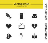 activity icons set with foot ...