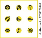activity icons set with cue...