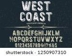 vintage font typeface vector... | Shutterstock .eps vector #1250907310