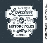 london motorcycles typography.... | Shutterstock .eps vector #1250907463