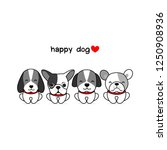 happy dogs vector illustration... | Shutterstock .eps vector #1250908936