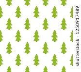 green funny cartoon fir trees... | Shutterstock .eps vector #1250917489