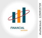 financial advisors logo concept   Shutterstock .eps vector #1250925739