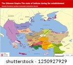 turkey   the ottoman dynasty... | Shutterstock .eps vector #1250927929