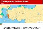 turkey   the ottoman dynasty... | Shutterstock .eps vector #1250927950