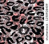 leopard pattern design  vector... | Shutterstock .eps vector #1250928409