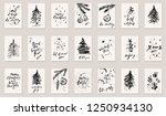 hand drawn ink christmas and...   Shutterstock .eps vector #1250934130