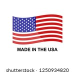 made in the usa on a white... | Shutterstock .eps vector #1250934820