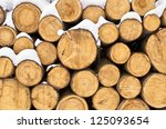Stack Of Firewood During The...